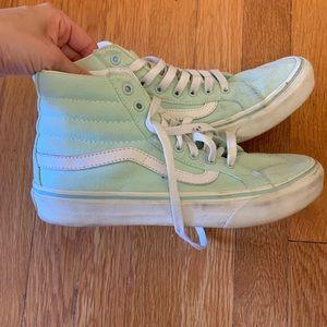 Vans Hi-Rise Mint Green Size 7